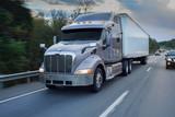 18 wheeler semi truck on the road