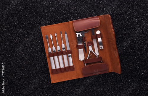 Fotobehang Pedicure Manicure and pedicure set
