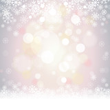 Fototapety Grey Soft Focus Snowflakes Winter Vector Background 1
