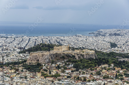 Foto op Canvas Athene Panoramic of athens
