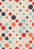 Seamless polka dot pattern. Vector repeating texture.