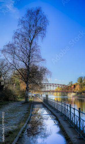 Aluminium Berlijn Herbstwetter