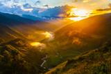 Svaneti mountains in Georgia. Landscape of Caucasus
