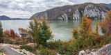 Autumn at the Danube Gorges, border between Romania and Serbia - 179757908