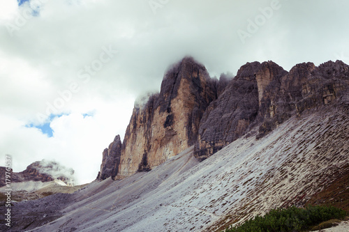Foto op Canvas Lavendel mountain landscape at the Dolomites