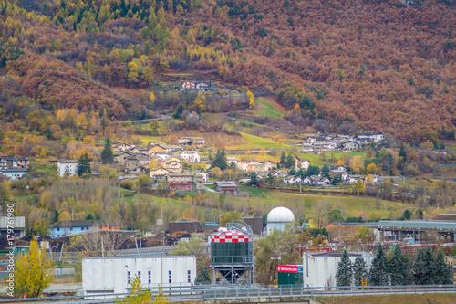 Papiers peints Cappuccino bad weather, autumn landscape. Montain lanscape with beautifull colors