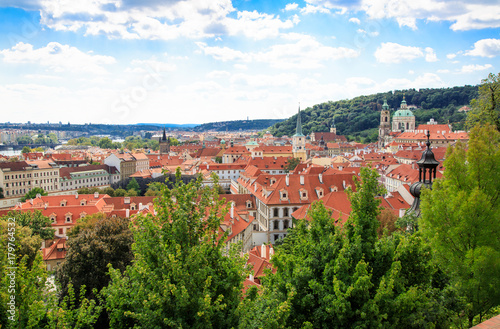 Papiers peints Prague Panorama of Prague old town, Czech Republic