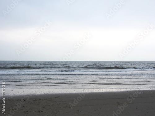 Fotobehang Noordzee Nordseestrand im Winter