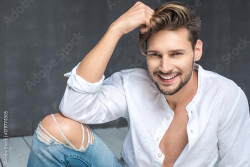 Plakat Sexy men in jeans
