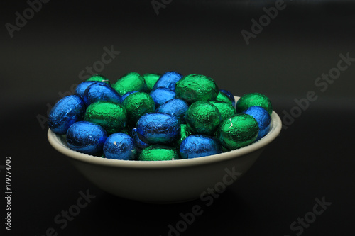 Poster Easter eggs in a bowl