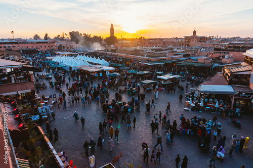 Papiers peints Maroc Square in Morocco