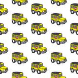 cute school bus seamless pattern vector cartoon
