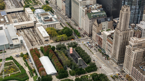 Tuinposter Chicago Aerial Chicago Downtown