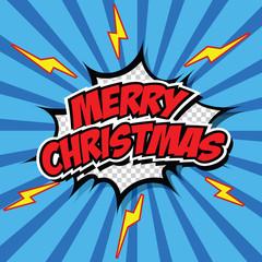 Comic Style Merry Christmas Illustration.