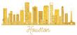 Houston USA City skyline golden silhouette. - 179799126