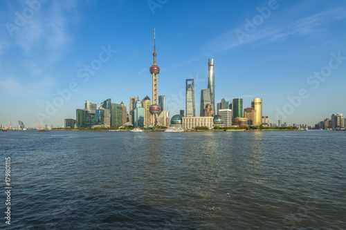Foto op Canvas Shanghai panoramic view of shanghai skyline with huangpu river