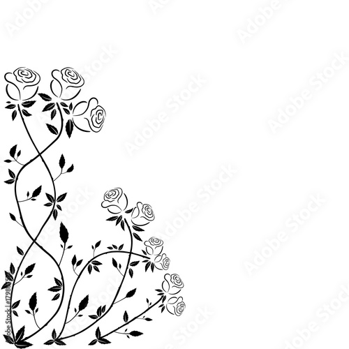 decorative rose pattern frames and greeting cards. For weddings, Valentine's day, Christmas, holiday, celebration, party.