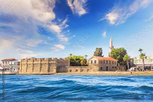 Fotobehang Cyprus Beautiful view of the castle of Larnaca, on the island of Cyprus