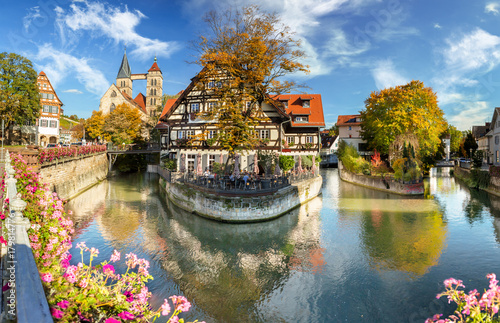 medieval town Esslingen am Neckar in Germany, histric city center