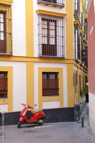 Poster Typical facade of Andalousia house facade
