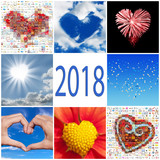 2018 collection of hearts greeting card - 179824539