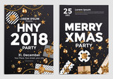 Christmas Party Flyer Design- Golden design