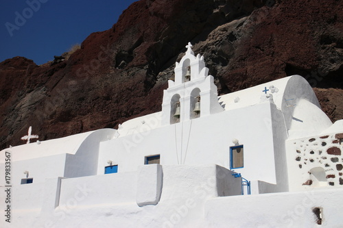 Fotobehang Santorini Chiesa di Santorini