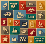 Medical Icons  Illustration Wall Sticker
