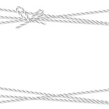 Background with bakers twine bow and ribbons - 179841311