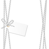 Background with bakers twine bow and ribbons - 179841327