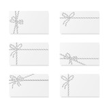 Card notes with gift bows - 179841350
