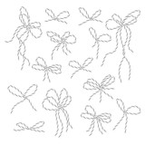 Bakers twine bows set - 179841368