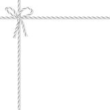 Background with bakers twine bow and ribbons - 179841515