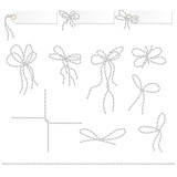 Tags and labels with bakers twine bows ribbons - 179841549