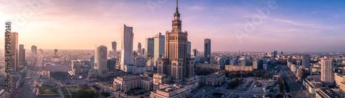 Foto Murales Warszawa z lotu ptaka