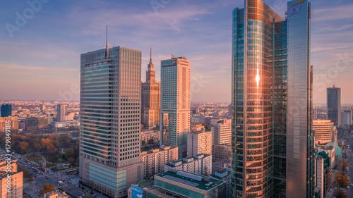 Obraz na płótnie Warszawa z lotu ptaka