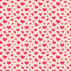 Pink hearts seamless pattern