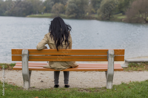 young woman, thoughtful - 179866565