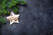 Christmas fir tree and decor - 179871945