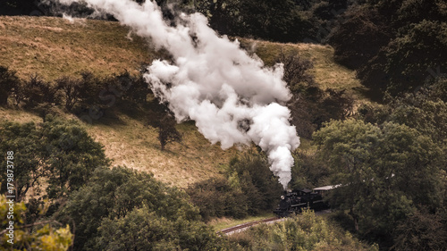 Foto op Canvas Zwart National Park in Wales in Summer in the Hills of the Countryside