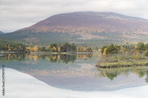 Fotobehang Donkergrijs Fall scenery from Sjaak, Oppland, Norway.