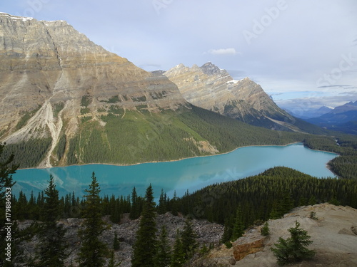 Poster Khaki Canadian Peyto Lake in the Rocky Mountains in Banff National Park