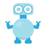 Cute Robot     Illustration Wall Sticker