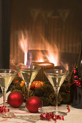 Spumante per brindare al Natale