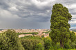 Panorama of Rome from the Piazza Garibaldi on the Janikulum hill, Italy