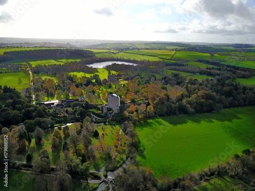 Fotobehang Zwart Irland aus der Luft