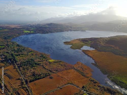 Fotobehang Bleke violet Irland aus der Luft