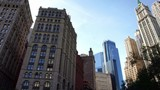 Aerial drone view of Manhattan's financial wall street business buildings in New York City - 179901538