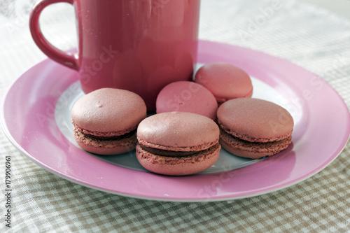 Deurstickers Macarons Macarons