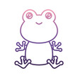 cute frog icon over white background vector illustration